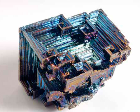 Photo of bismuth crystal