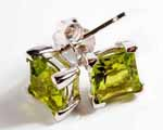 Photo of peridot studs