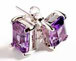 Photo of amethyst stud earrings