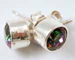 Photo of mystic topaz studs