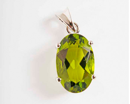 Photo of peridot silver pendant