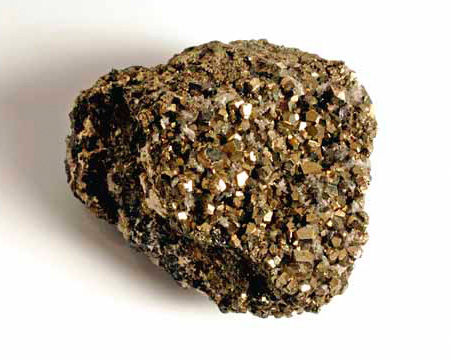 Photo of pyrite crystals